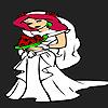 Coy bride coloring