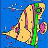 Pink ocean fish coloring