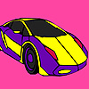 Purple flat car coloring