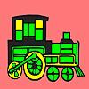 Modern locomotive car coloring