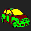 Shortest path car coloring