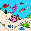 Fishes in the sea coloring