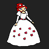 Flower bride girl coloring A Free Customize Game