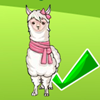 You must look at the three parasols and choose one of them that has the alpaca! You have three chances to guess it.