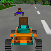 8 bits 3D racing A Free Action Game