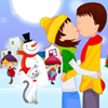 Christmas Love Kissing