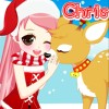 Christmas Girl Loves Reindeer A Free Dress-Up Game