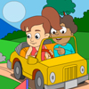 Friends Jolly Ride - Online Coloring Page