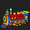 Fast colorful locomotive coloring