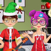 Celebrate Christmas with Katy and Karl. In this funny game you have to help them do the Christmas shopping, take care of their pets, dress them for Christmas, make a photo session and a Snow Challenge.