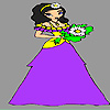 Little daisy bride coloring