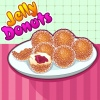 "Jelly Donuts is an interactive recipe game that lets you learn how to make different meals and desserts by ""making"" the recipe in a fun virtual online world before trying it on your own with your parents` permission. First match the ingredients to the shapes. The game will prompt you what to do and in what order to do it. Simply click the mouse or use the mouse to click and drag something over to where it belongs. Once you`re done, you`ll come out with a recipe that you`ll be ready to try on your own."