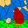 Little chick and egg coloring