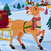 Its Christmas time! Santa has to present the gift items to children. This cute red nose reindeer need your help. Yes he wants to decor himself, decor his antlers, change his shoes, choose the good looking sleigh, mufflers, etc. Make him look attractive and enjoy Christmas!