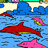 Dolphins in the pool coloring