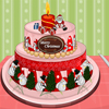 Colorful Christmas Cake Decor
