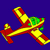 Little flying plane coloring