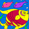Colorful fishes coloring
