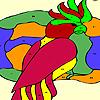 Tropical bird coloring