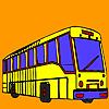Long street bus coloring