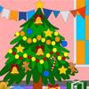 Cartoon Xmas Tree - Coloring Page