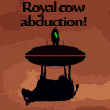 Royal cow abduction! A Free Action Game