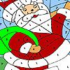 Funny santa coloring Game.
