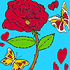 Love butterflies in rose garden coloring