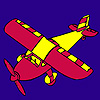 Red  airplane coloring
