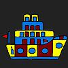 Weird little ship coloring Game.