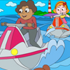Water Riding Coloring Page