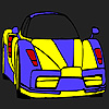 High performance car coloring