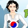 Peppy Patriotic South Korea Girl