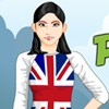 Peppy Patriotic United Kingdom Girl A Free Dress-Up Game
