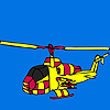 Amazing City helicopter coloring