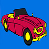 Classic claret red car coloring