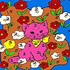 Kitty in the flower island coloring Game.