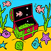 Little fishes in the box coloring