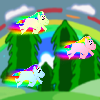 Play as the Rainbow Pony that protect the lands from evil ponies, upgrade and fight great pony's battle!