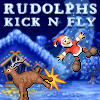 Santas little helpers have worked all year preparing for Christmas.  When Santa finally leaves to deliver the presents, the elves head down to the snowfields with Rudolph the reindeer to play their favorite game: Kick n` Fly!